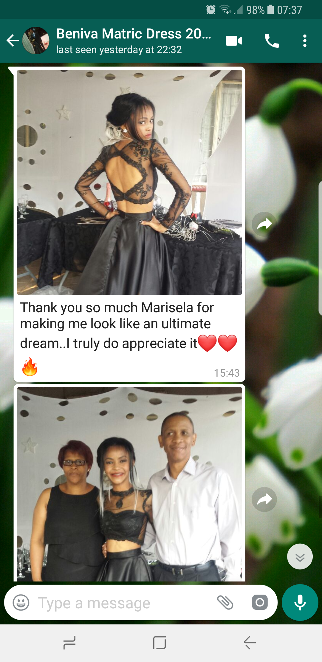Beniva, a private client of Marisela Veludo's gives feedback for her black lace, open back, evening dress which was custom designed and made by Marisela Veludo. To view all of Marisela's reviews & feedback, you can go to feedback. To see more of Marisela's work, you can go to Passion4Fashion.