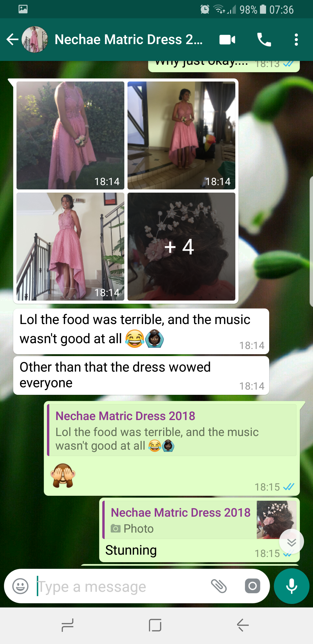 Nechae, a private client of Marisela Veludo's gives feedback for her evening dress designed and made by Marisela Veludo.