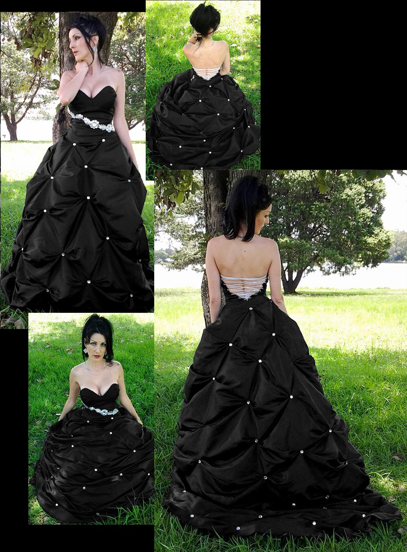Midnight Dress -Black dresses by Marisela Veludo - Fashion Designer - Starbright